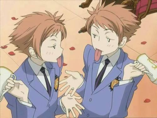 ouran high school host club wallpaper containing anime entitled Hikaru and Kaoru