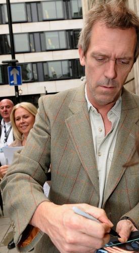 Hugh Laurie - Leaving at BBC Radio 2 Studios,May 2011