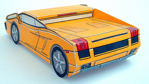 Lamborghin Gallardo from PAPER CARS