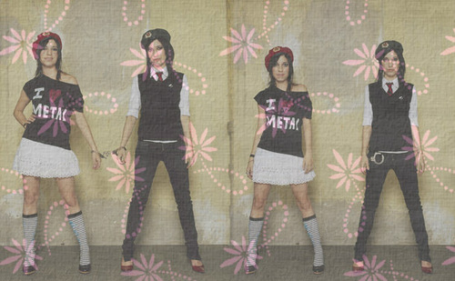 The Veronicas wallpaper probably containing tights, a legging, and a hip boot entitled Lisa *jess veronicas