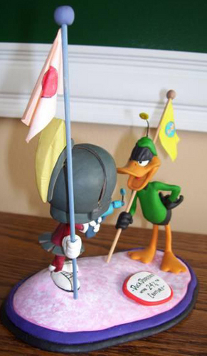 Marvin Martian & Daffy बत्तख, बतख Sculpture
