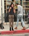 May 07th: Shenae Grimes outside Starbucks