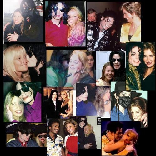Michael Jackson and the Blonde girls