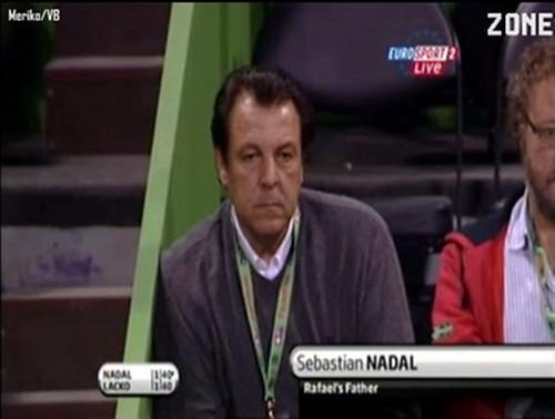 Nadal father looks sad !