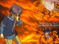 Natsume, enculfed in flames <3