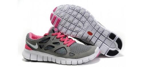 Nike Free Run+2 Women Shoes Grey red
