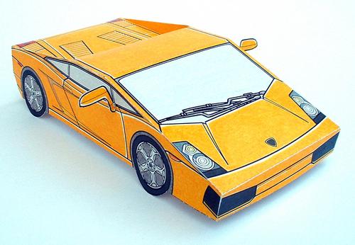 PAPER CARS Lamborghini Gallardo