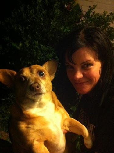 Pauley & her dog, Lil' Joe