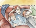 Percy and the twins - fred-and-george-weasley photo