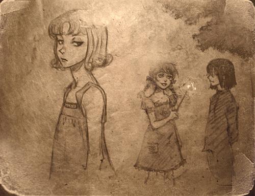Petunia, Lily, Snape.