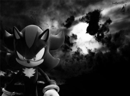 Shadow The Hedgehog black