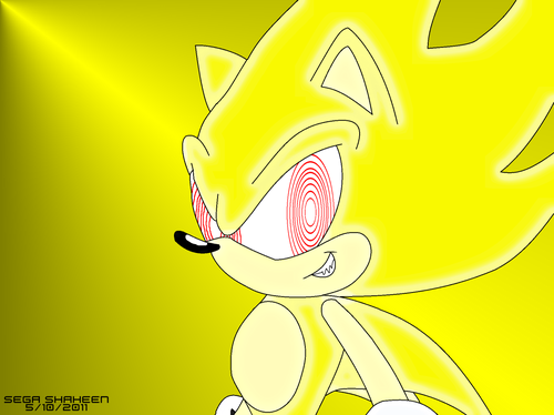 Super Sonic from Sonic The Comic sejak Fleetway
