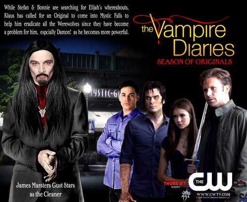 el diario de los vampiros fondo de pantalla containing a business suit, a well dressed person, and an outerwear titled TVD Season 3 Mock Poster 2