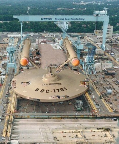The Enterprise HERE for repairs