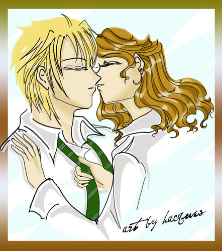 Dramione wallpaper possibly with anime titled The Kiss is Near