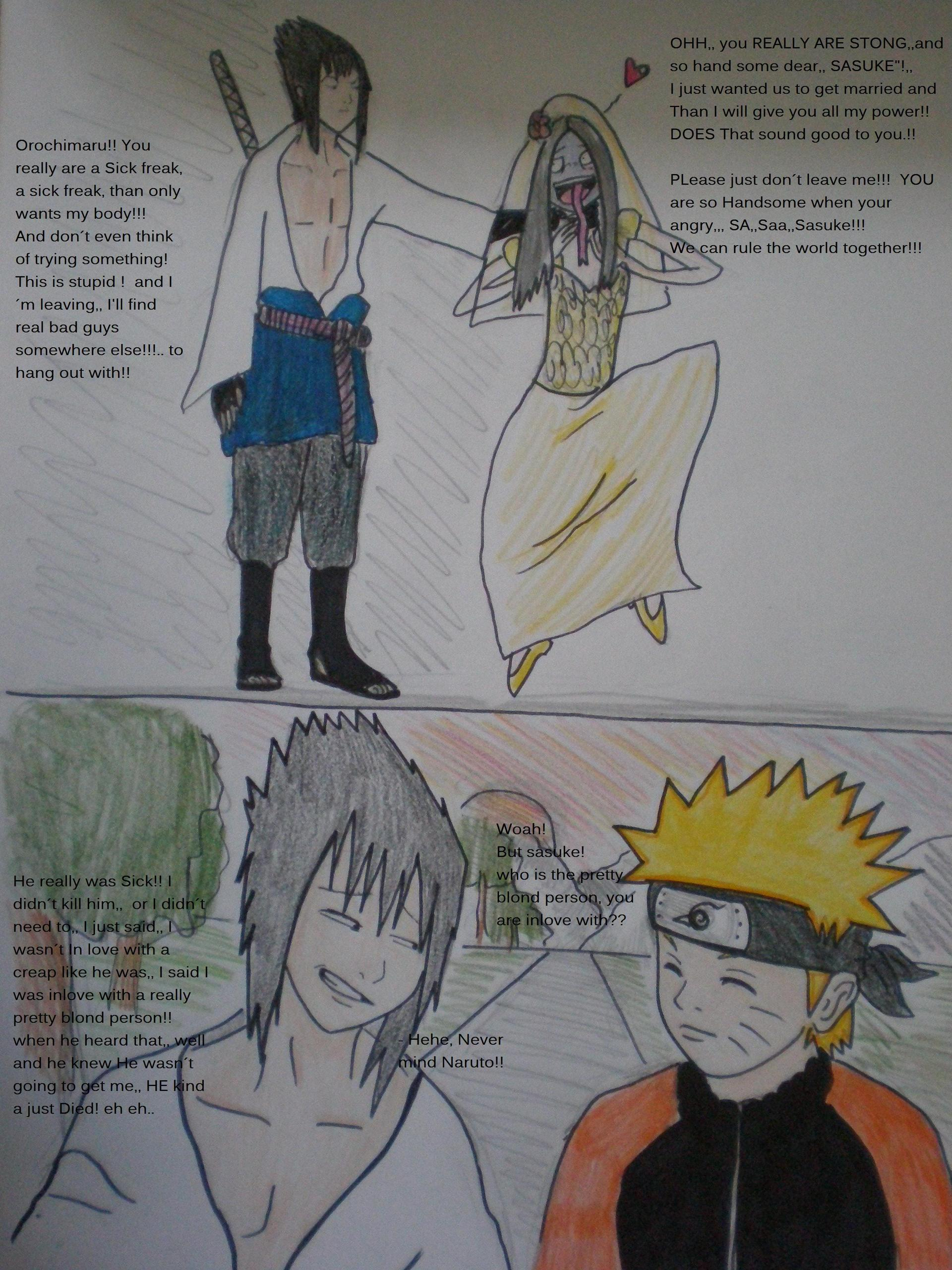 WHY Sasuke left Orochimaru !! - naruto fan Art (21868177