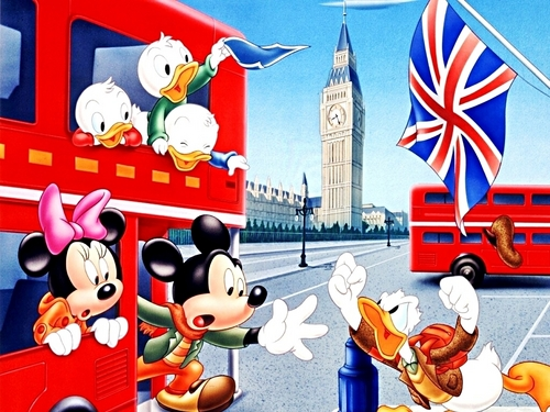 Walt Disney kertas-kertas dinding - The Gang in London, UK