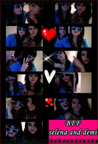 selena gomez dan demi lovato wallpaper probably containing a stained glass window entitled bff