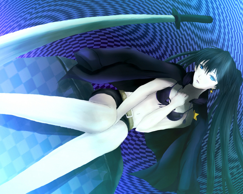 Black★Rock Shooter 壁纸 probably with a bouquet called black rock shooter