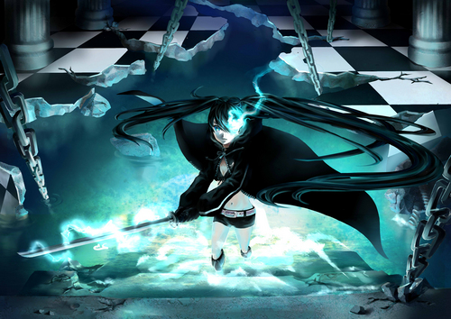 Black★Rock Shooter 壁纸 possibly containing a hot tub and a 喷泉 called black rock shooter