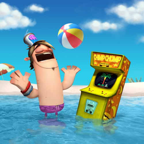 Fanboy ''N'' Chum Chum fond d'écran entitled boog and chimp chomp machine summer