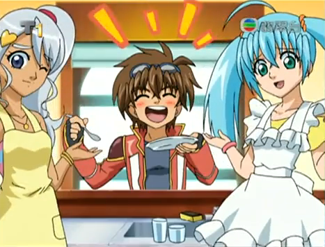 Bakugan Runo and Julie http://www.fanpop.com/clubs/bakugan-girls/images/21892366/title