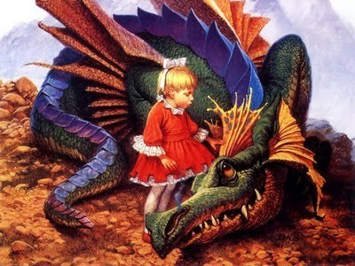 little girl and the dragon