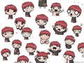 many faces of sasori - sasori fan art