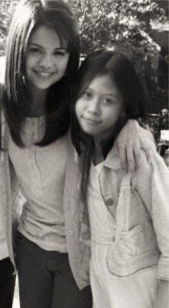 me and selena gomez :*