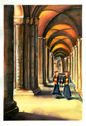 the weasley twins at hogwarts