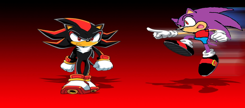 Shadow The Hedgehog kertas dinding entitled vincent vs shadow