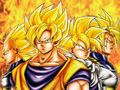 4 ssj's - dragon-ball-z wallpaper