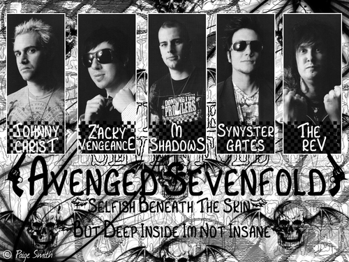 Avenged Sevenfold wallpaper probably containing Anime entitled A7x