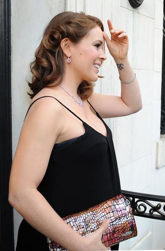 Alyssa Milano at wwe Be a estrella launch
