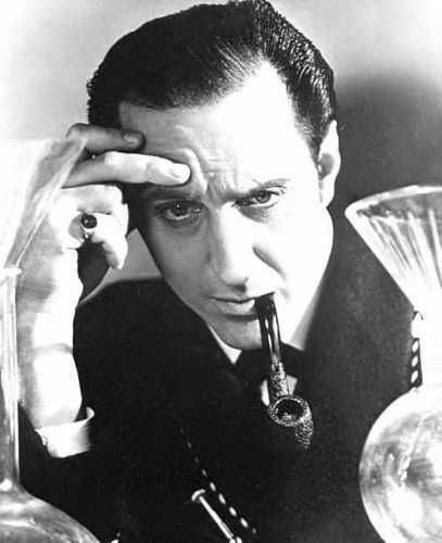 Sherlock Holmes wallpaper titled Basil Rathbone publicity photo
