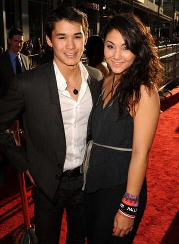 Boo Boo Stewart wallpaper with a business suit called Booboo Stewart at 'Thor Premiere'