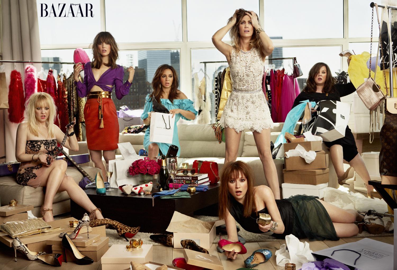 Bridesmaids in Harper's Bazaar