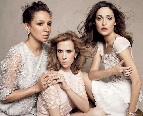 Bridesmaids in Harper's Bazaar