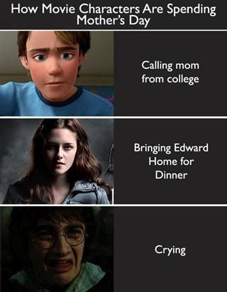 Harry Potter vs Twilight fond d'écran probably with animé and a portrait called Celebrating Mother's jour