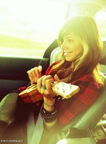 Christina on ukulele