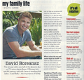 David Boreanaz Interview: Family circulo, círculo Magazine Scan (June 2011)