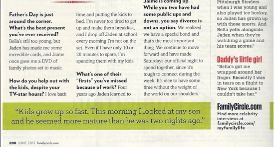 David Boreanaz Interview: Family cercle Magazine Scan (June 2011)