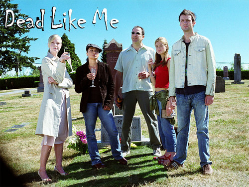 Dead Like Me achtergrond possibly with a workwear, a business suit, and a hekje, wicket entitled Dead Like Us