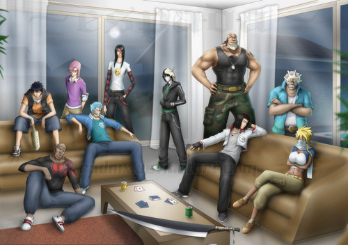 Bleach Anime wallpaper containing a living room and a family room called ESPADAS