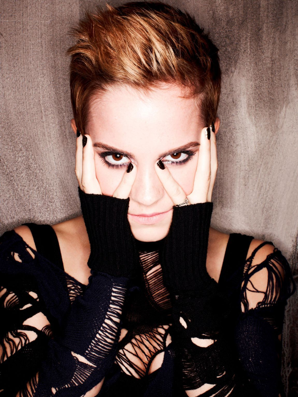 Emma Watson Website Design  Emma Watson Short Hair Black