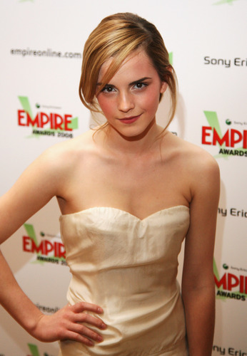 Emma Watson wallpaper with a cocktail dress, a strapless, and a portrait entitled Emma Watson <3