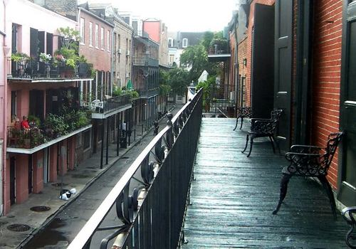New Orleans Wallpaper With A Street Entitled French Quarter