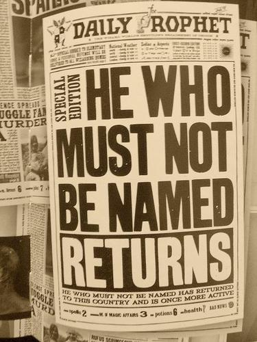 He Who Must Not Be Named