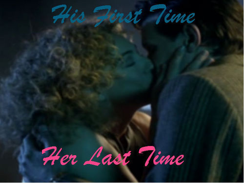 The Doctor and River Song karatasi la kupamba ukuta called His First And Her Last