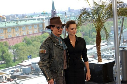JOHNNY DEPP --Press Conferences-Pirates of the Caribbean 4 - Russia